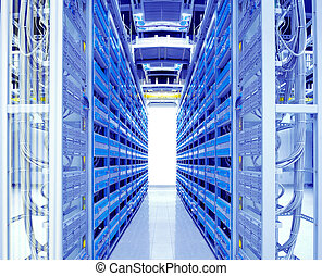 skott, nätverk, teknologi, kablar, servaren, informationer centrerar