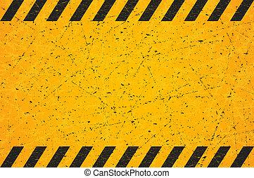 skrapet, rectangle., illustration., skylt., slitet, vektor, svart, tom, randig, varning