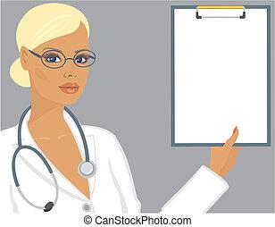 skrivplatta, läkare