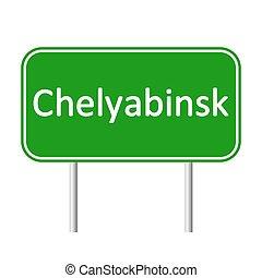 skylt., chelyabinsk, väg