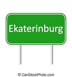 skylt., ekaterinburg, väg