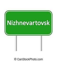 skylt., nizhnevartovsk, väg