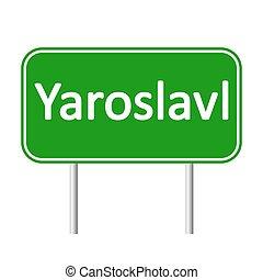 skylt., yaroslavl, väg
