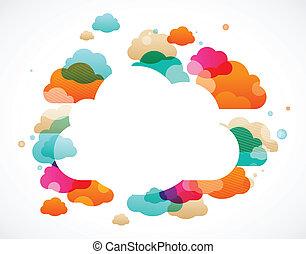 skyn, färgrik, abstrakt, -, vektor, bakgrund