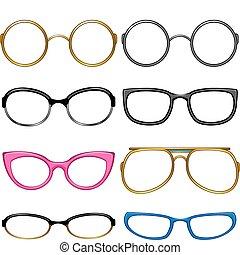smaka, varje, kollektion, glasögon