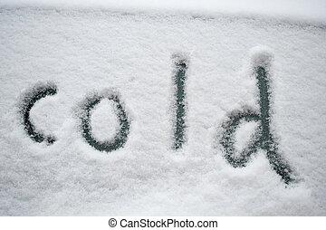 "snö, ""cold"", skriftligt"