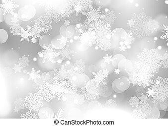 snöflinga, bakgrund, 2611, jul