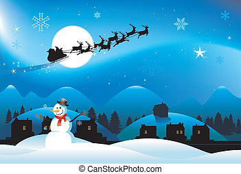 snögubbe, jul, bakgrund