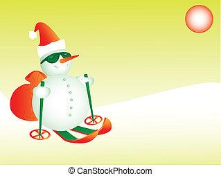 snögubbe, skidåkning, jultomten, eps8