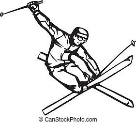snowboarding, skidåkning, &