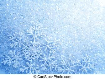 snowflakes., bakgrund., vinter, snö, jul