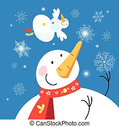snowmen, julkort