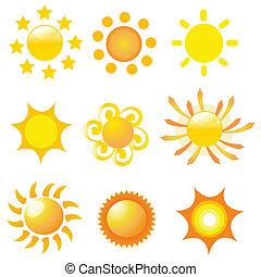 sol, vektor, illustration