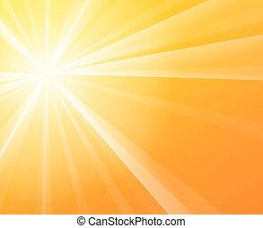 solsken, solig