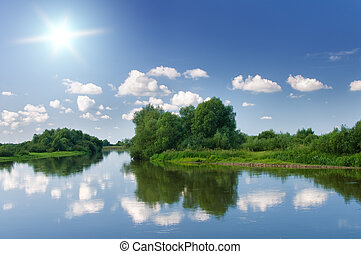 sommar, river.