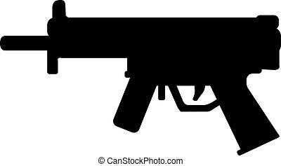 sport, gevär, ikon