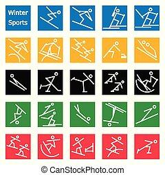 sport, käpp, vinter, beräknar