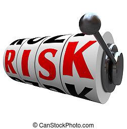 springa, ord, riskera, odds, -, maskin, chans, hasardspel, hjul