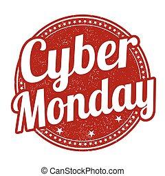 stämpel, cybernetiska, måndag