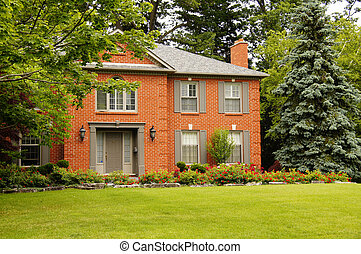 stänger med fönsterluckor, lyxvara, hus