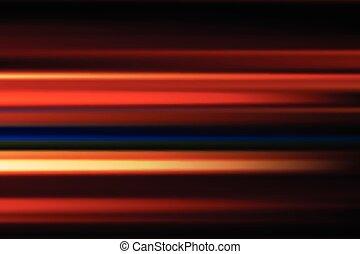 stad, abstrakt, fläck, länge, rörelse, lyse, vektor, bakgrund, natt, hastighet, röd, exponering