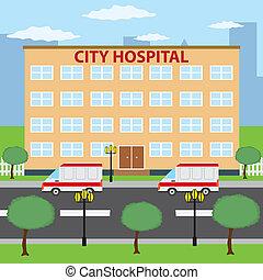 stad, hospital.
