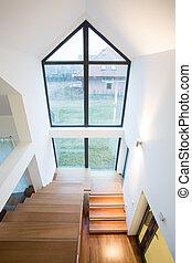 stairway, hus, fristående