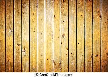 staket, årgång, texture., bakgrund., ved, plankor