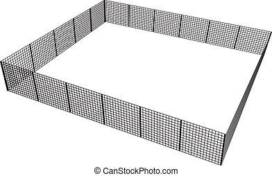 staket, rektangulär