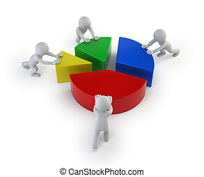 statistik, folk, -, teamwork, liten, 3