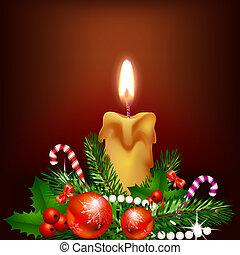 stearinljus, jul