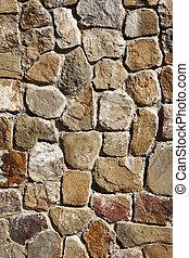 sten, forntida, mexico, vägg, kvarter, alban, monte