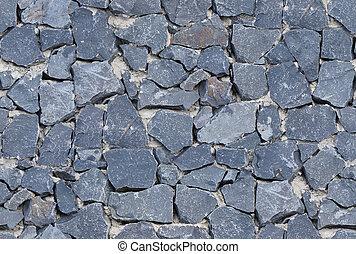sten, gammal, vägg, seamless, struktur, ashlar, svart