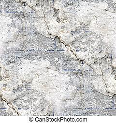 sten, gammal, vägg, seamless, struktur, spricka