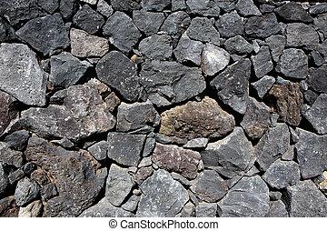 sten, vulkanisk, vägg, lava, svart, frimureri