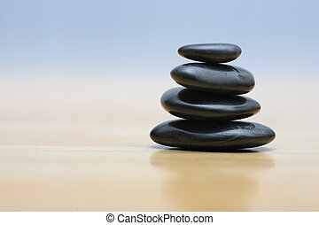 stenar, trä, zen, yta