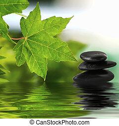 stenar, vatten, zen