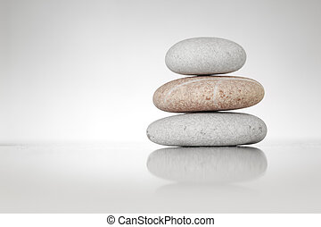 stenar, vit, zen