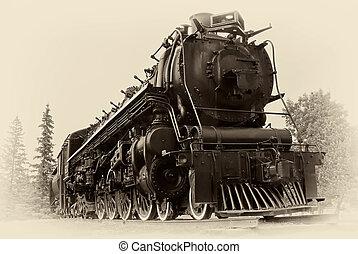 stil, ånga, årgång, tåg, foto