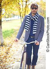 stilig, cyklist