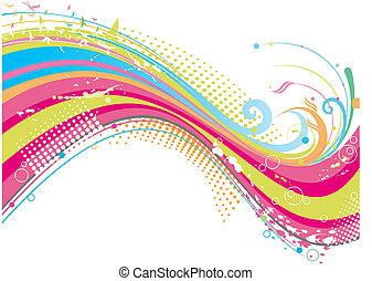 stinkande, färgrik, bakgrund