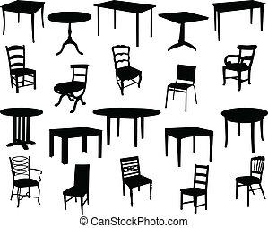 stol, bordläggar