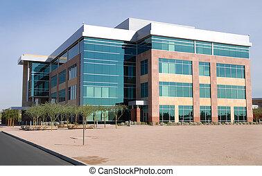 stor anläggning, nymodig, kontor