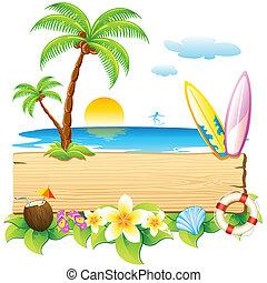 strand, hav