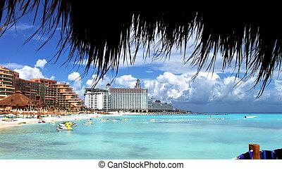 strand, liv, luxuös