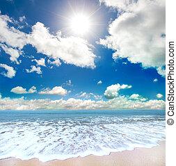 strand, sommartid