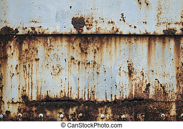 struktur, gammal, bakgrund, vägg, metall, rosta