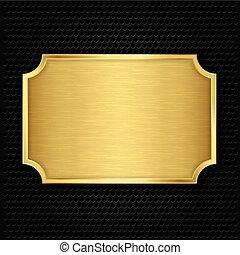struktur, guld, vektor, illustra, tallrik