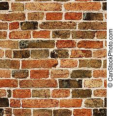struktur, seamless, vägg, tegelsten