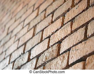 struktur, vägg, bakgrund., gammal, tegelsten